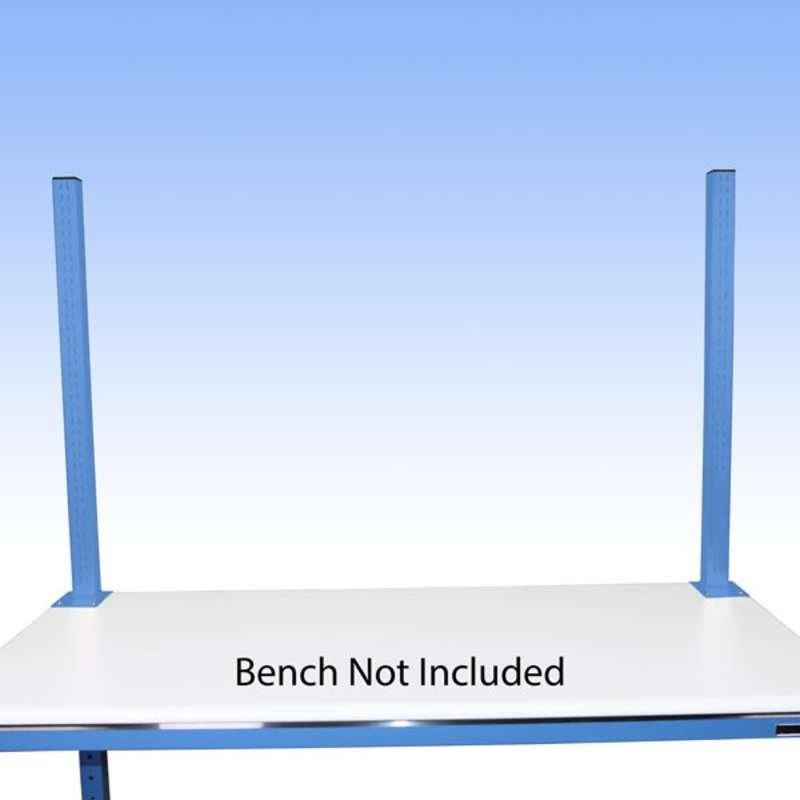 "Work Surface Mounted 36"" Slotted Uprights for All-Spec Heavy Duty Benches"