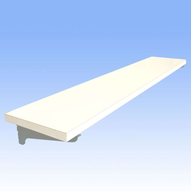 Adjustable Chemical Resistant Phenolic Resin Shelf for All-Spec Heavy Duty Benches, White, 12 x 48""
