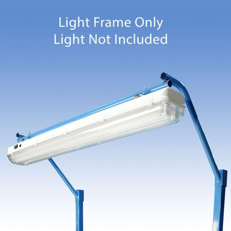 "Light Frame to Attach the All-Spec Overhead Fluorescent Light Fixture to a 48"" or 96"" Heavy Duty Bench, Blue"