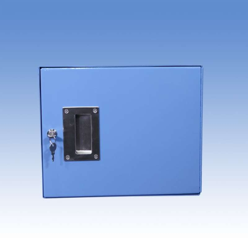 """Steel Cabinet with Hinged Door and Lock for All-Spec Heavy Duty Benches, 12"""" High, Blue"""