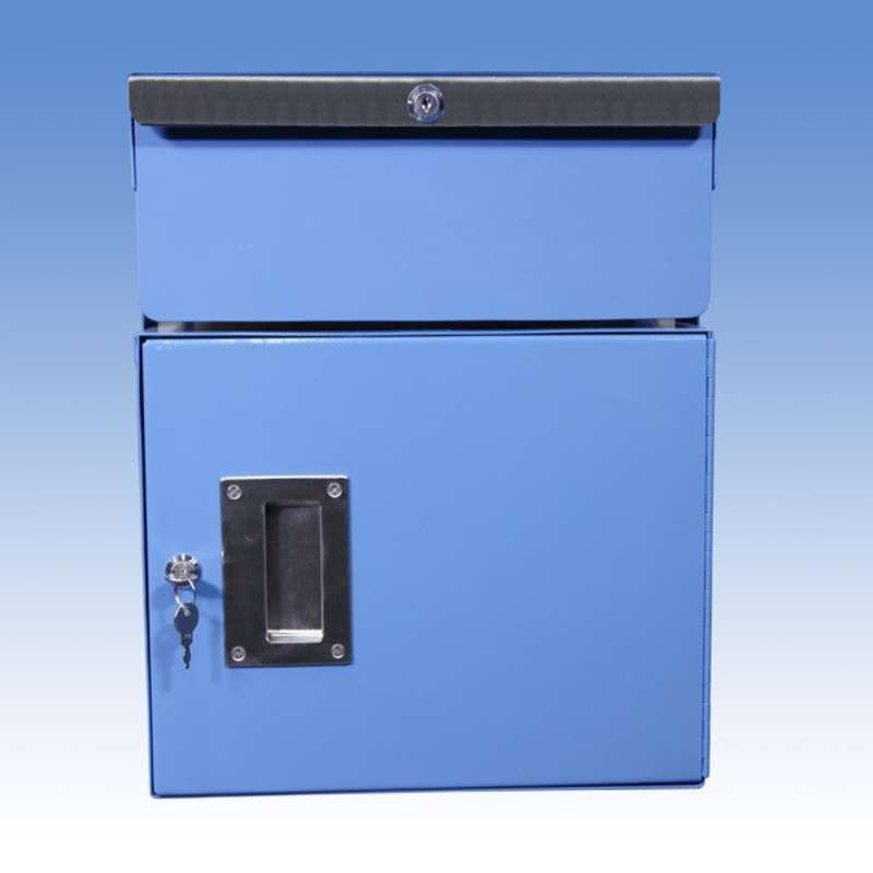 """Double Stacked 6""""/12"""" Steel Drawer and Cabinet Set for All-Spec Heavy Duty Benches, Blue"""