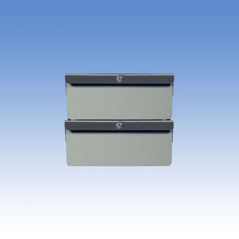 """Double Stacked 4""""/4"""" Steel Drawers for All-Spec Heavy-Duty Chemical Resistant Benches, Grey"""
