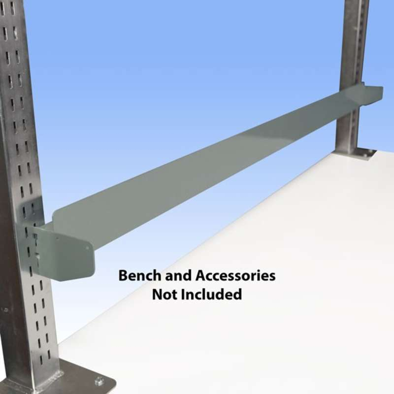 "Bin Rail for 72"" All-Spec Heavy-Duty Chemical Resistant Benches, Grey"