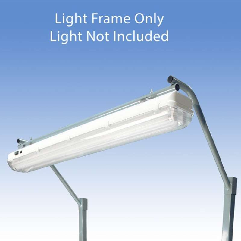 """Light Frame to Attach the All-Spec Overhead Fluorescent Light Fixture to a 48"""" or 96"""" Heavy Duty Chemical Resistant Benches, Grey"""