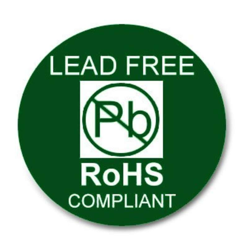 """Green ROHS Compliant Label, 1"""" round, 500 per Roll"""