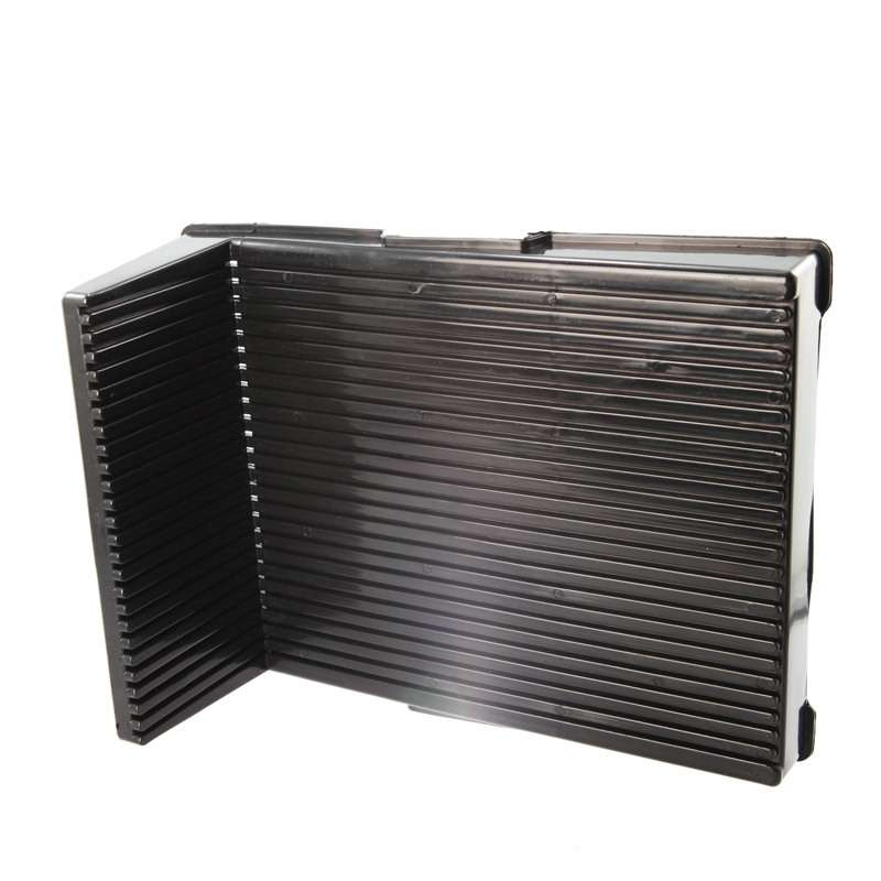 """605 Series Conductive Angled PCB Board Rack with 25 Slots, 14 x 10-1/2 x 5"""""""