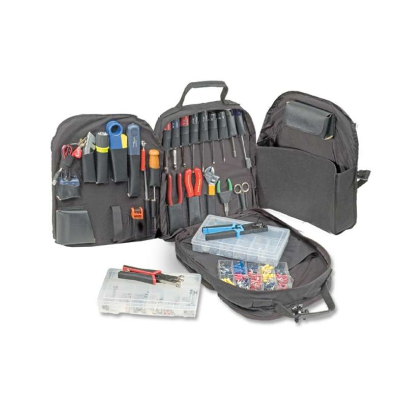 Deluxe Comprehensive Audio/Video Installation Tool Kit in a Portable CORDURA® Backpack Tool Bag, 38 Pieces