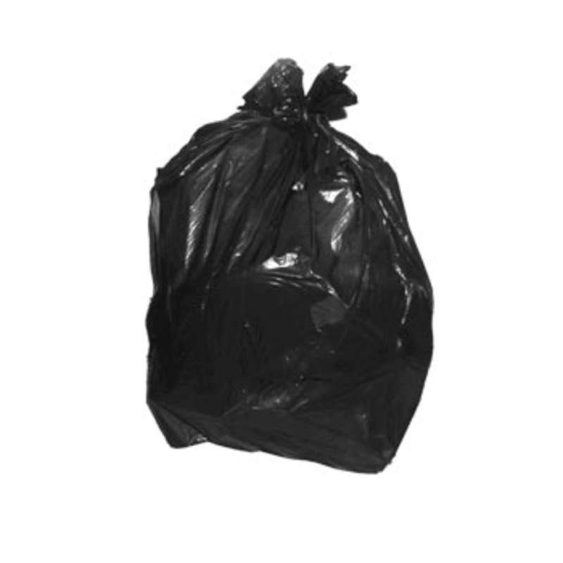 "Anti-Static 1.5mil Black Polyethylene 12 to 16 Gallon Trash Liner, 16 x 15 x 24"", 250 per Carton"