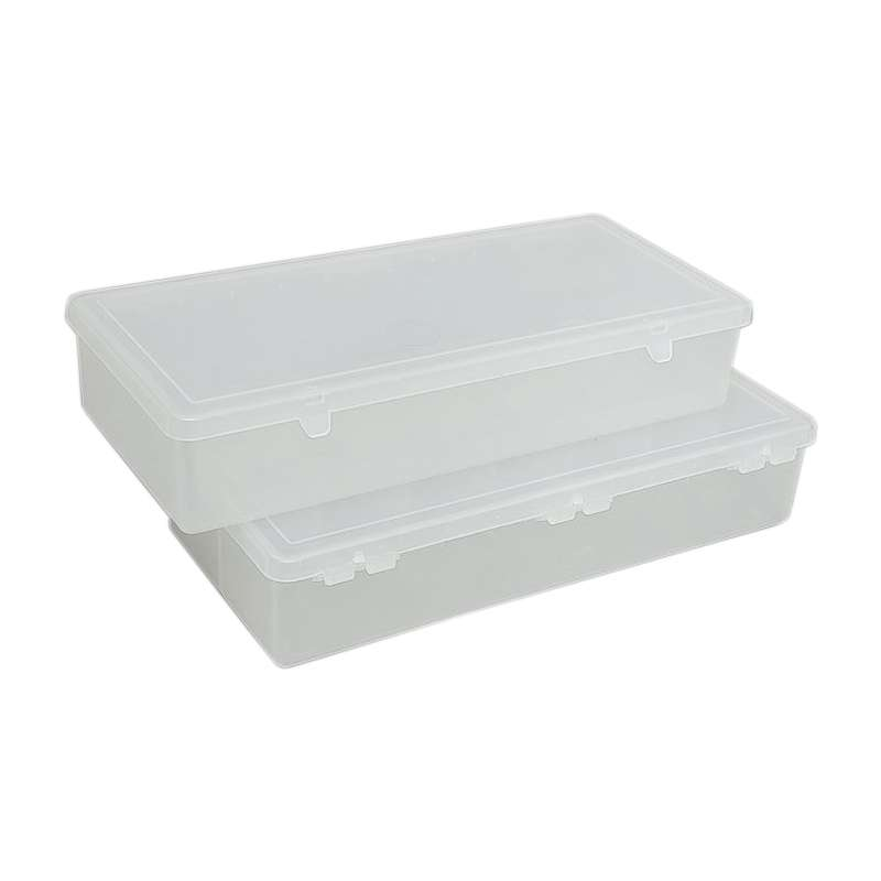 Lite Tuff Compartment Hinged Plastic Box with 7 cells 11 x 5 14 x