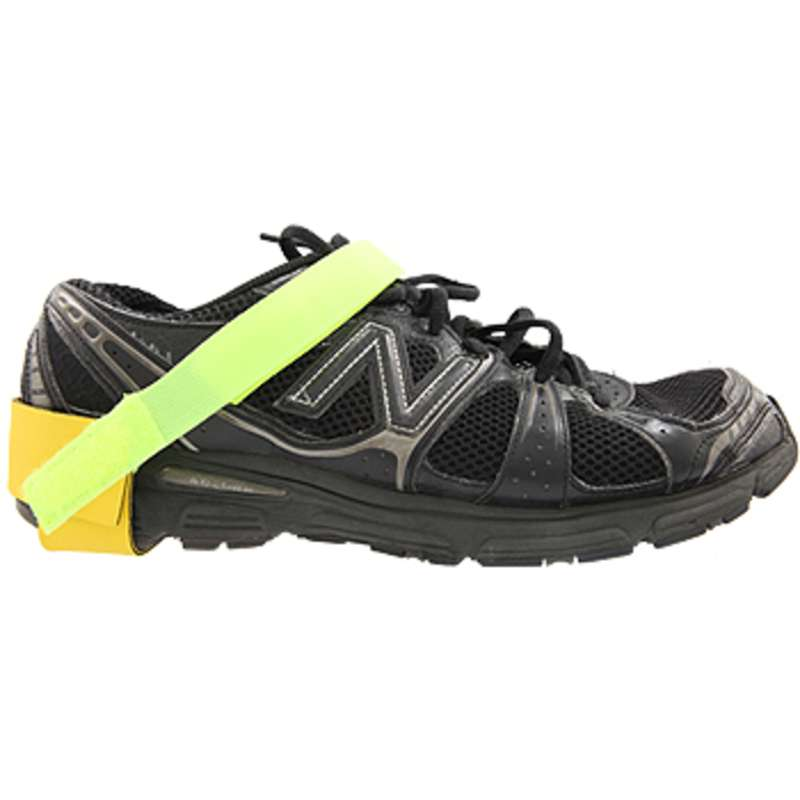 High Visibility Stretch Hook and Loop Heel Ground with 1 megohm Resistor, Green and Yellow