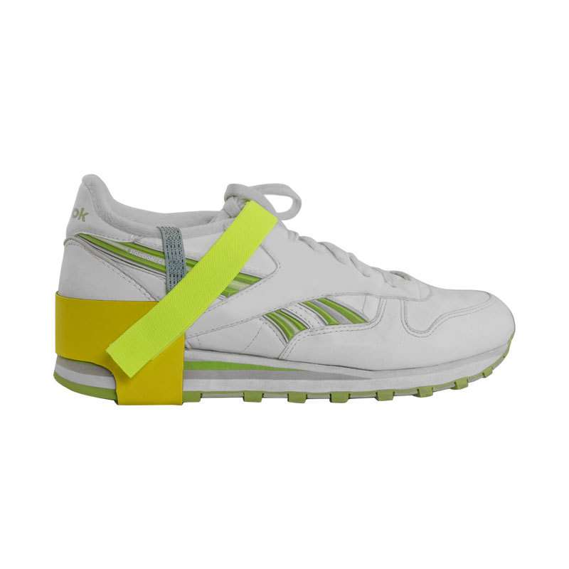 High Visibility Quik-Lok Non-Marking Heel Ground with 1 Megohm Resistor, Yellow and Green