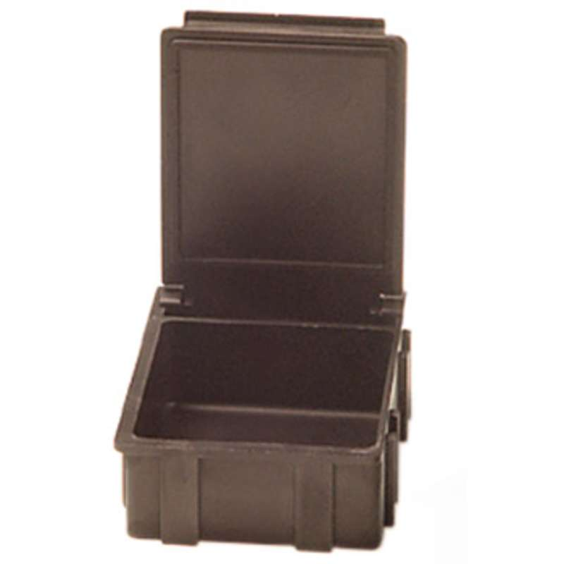 """Conductive Hinged SMD Storage Box with Black Lid, 1-9/16 x 1-1/2 x 19/32"""""""