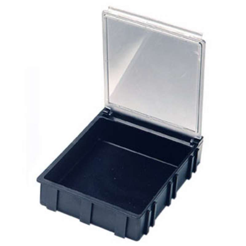 Conductive Hinged SMD Storage Box with Transparent Lid, 2-5/8 x 2-1/4 x 19/32""