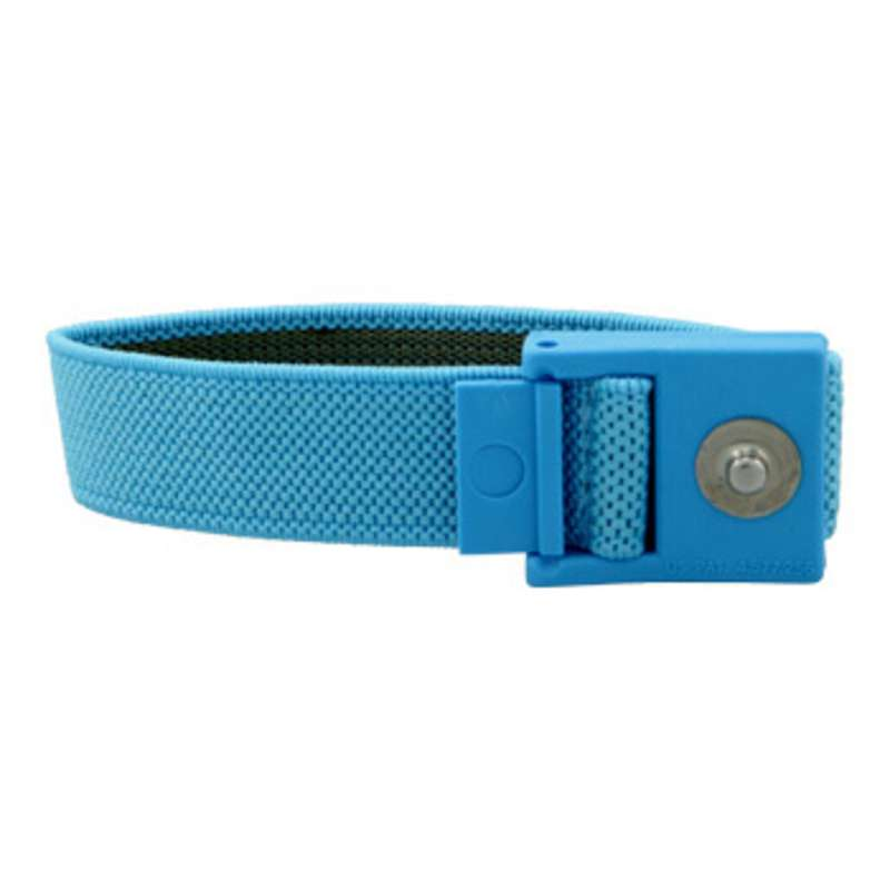 Elastic Adjustable Light Blue Wrist Strap with 4mm Snap and No Coil Cord (Band Only)