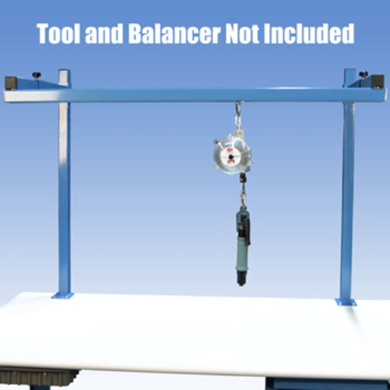 "Tool Balancer Frame and Trolley for 72"" Heavy Duty Benches"