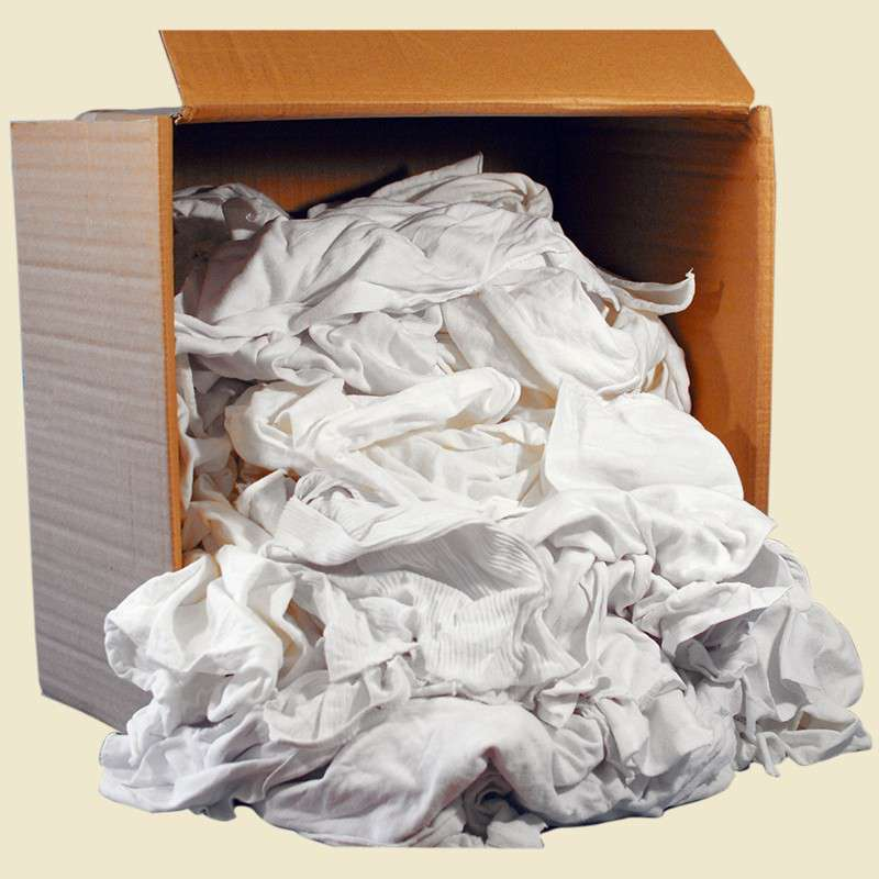 "PureWipe® Boeing Approved 100% Cotton White Wiper, 15 x 15"", 25 Pounds per Case"