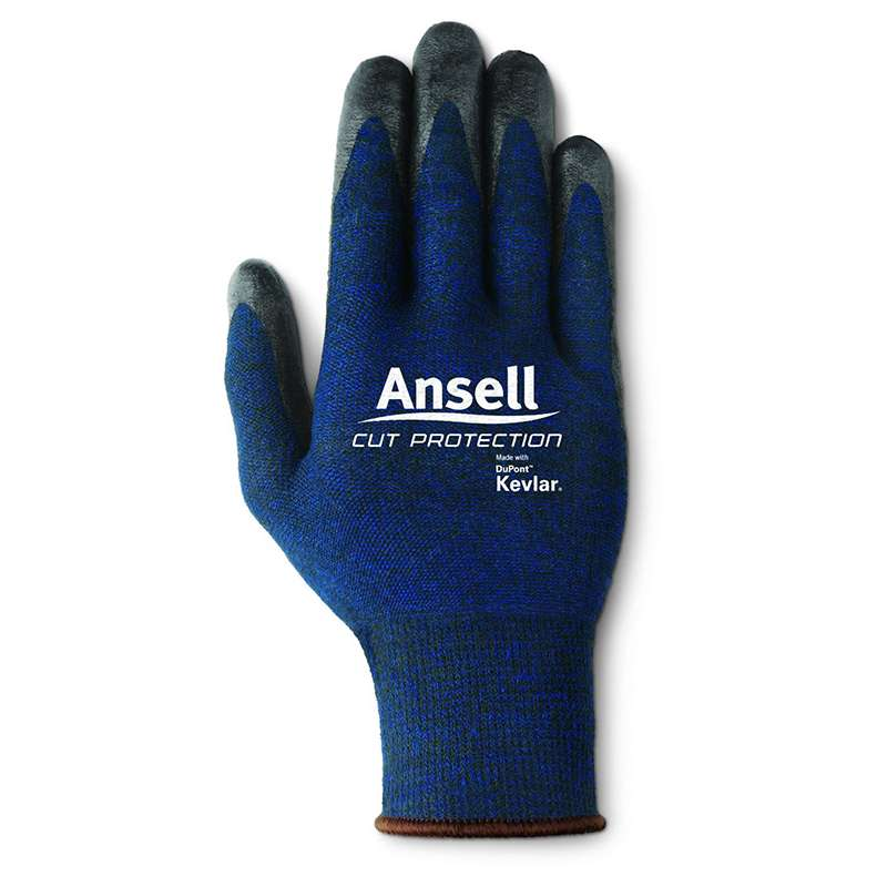 Ansell® 97-505 Knitwrist Cuff Foam Nitrile Coated Gloves  Small, Black  12 Pair per Bag