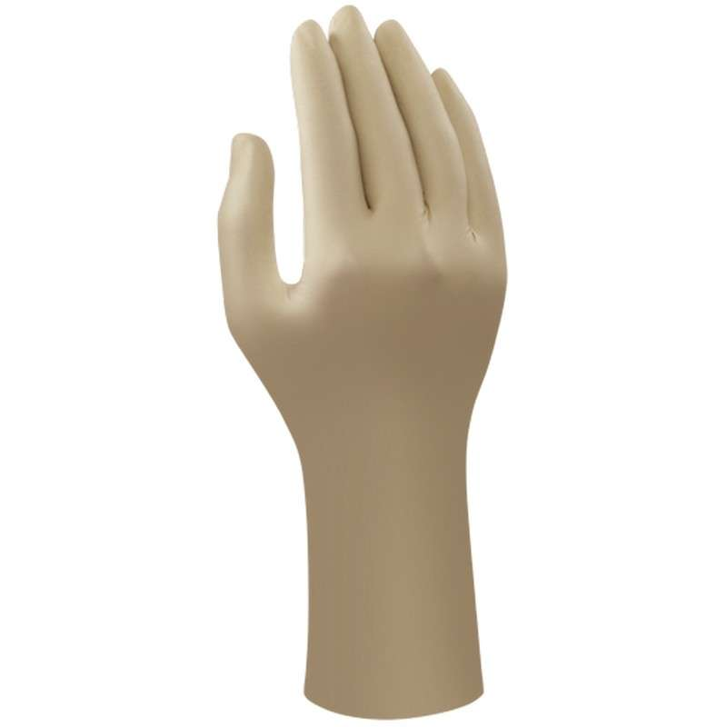 "AccuTech® Powder Free Smooth Natural Color 7mil Latex Glove, Small, 11"" Long, 100 per Bag"