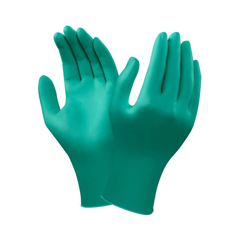 "TouchNTuff® ESD Safe Powdered Textured Green 5mil Nitrile Gloves, Medium, 9.5"" Long, 100 per Box"