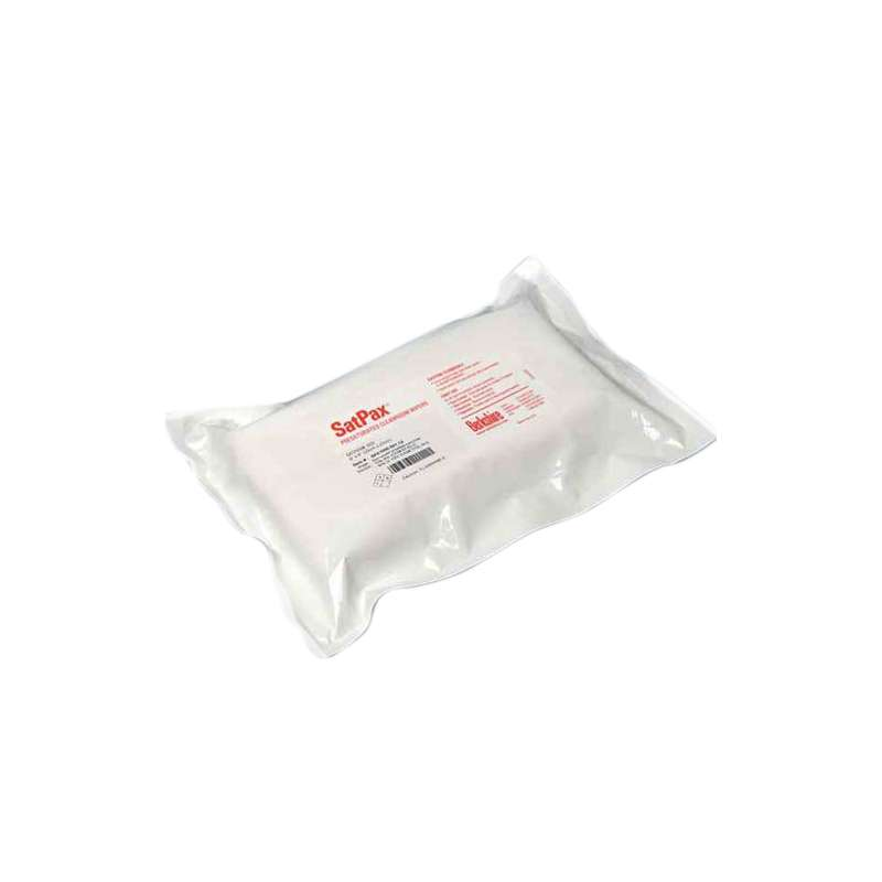 "Sterile SatPax™ 1000 Cleanroom Cellulose/Polyester Wipes Presaturated with 70% IPA, 9 x 11"", 30 per Package"