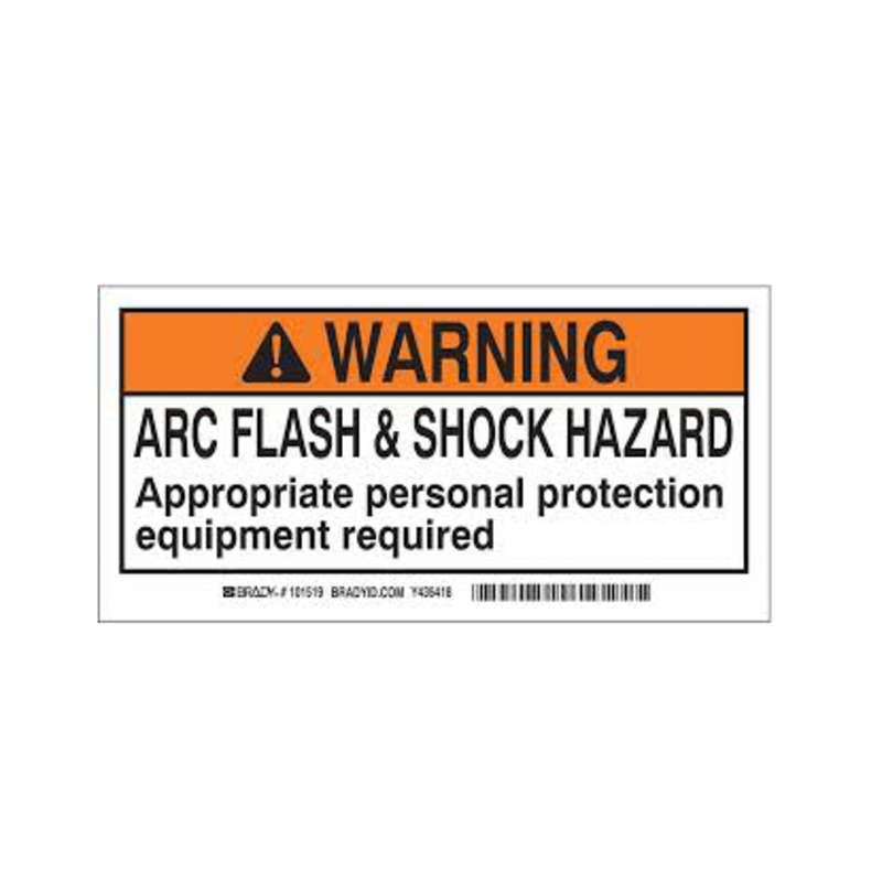 2in x 4in Arc Flash & Shock lbl, 100/rl