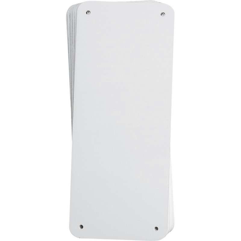 "Sign Panel, Plastic, 4.25 x 10.25"", White 10PK"