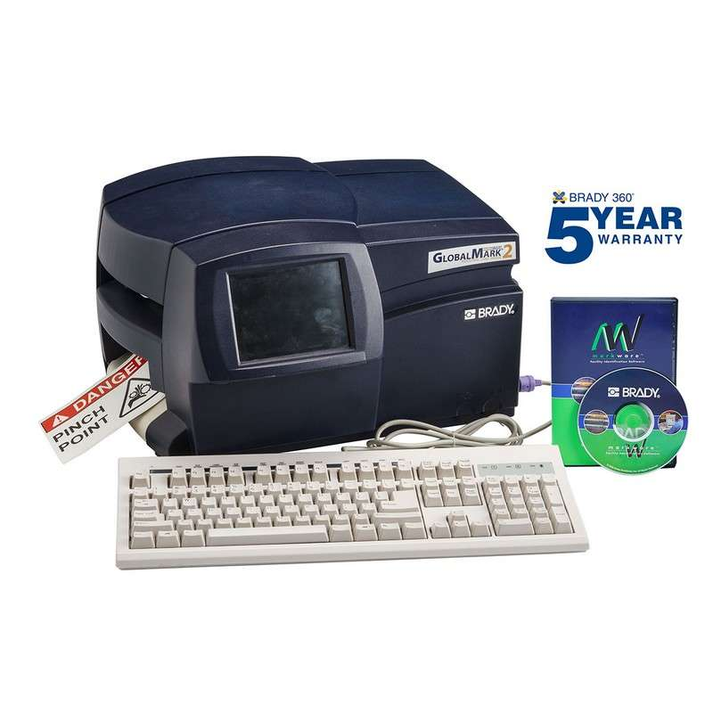 GlobalMark®2 Color & Cut Industrial Label Maker with Markware Standard Software