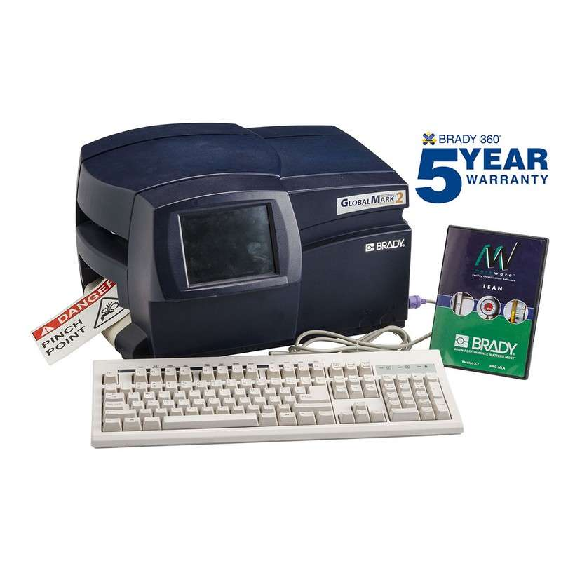 GlobalMark®2 Color & Cut Industrial Label Maker with Markware Lean Software