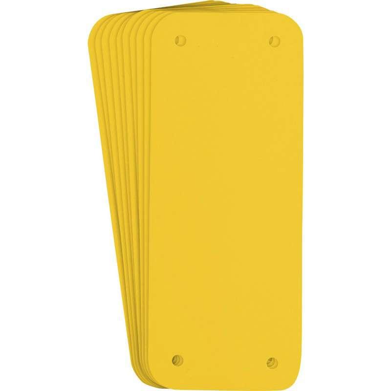 "Sign Panel, Plastic, 2.50 x 6.25"", Yellow 10PK"