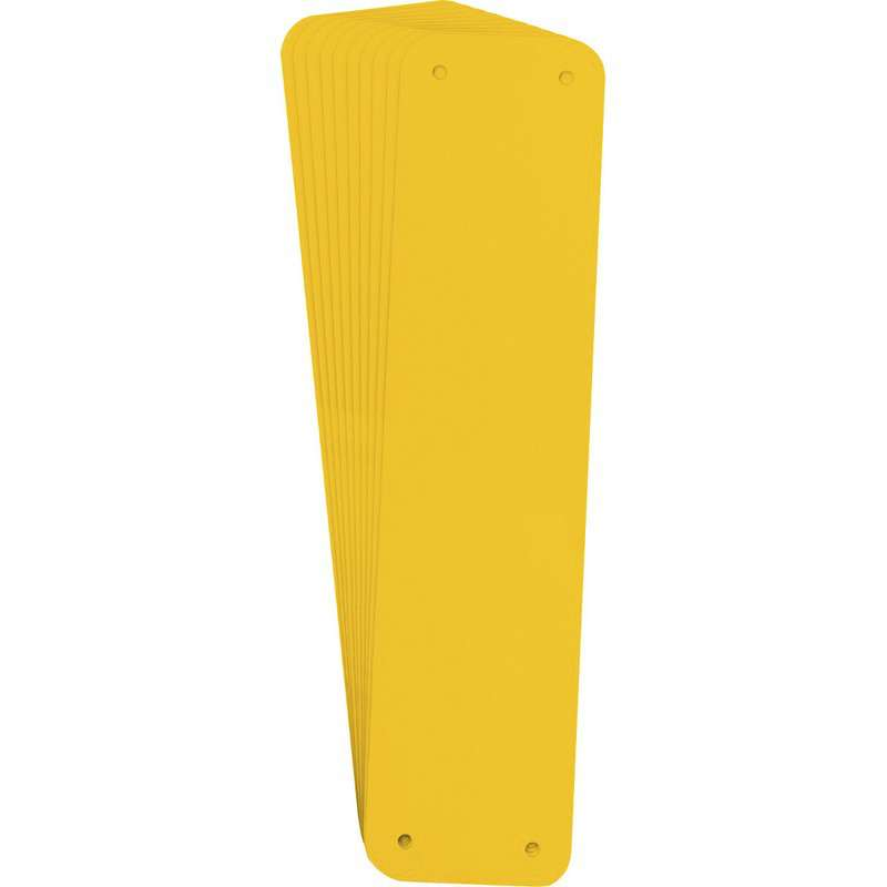"Sign Panel, Plastic, 2.50 x 10.25"", Yellow 10PK"