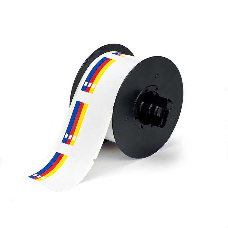 """Indoor/Outdoor Vinyl RTK Color Bar Label, 4"""" x 6"""", 170/Roll"""
