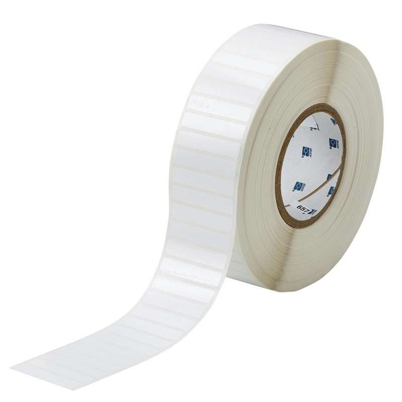 """3"""" Core Series WorkHorse Polyester Thermal Transfer Label, White, B-423, 0.4 x 2 in, 10000 Labels per Roll"""