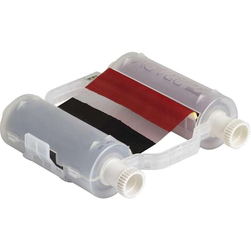 "B30 Series Heavy-Duty Multi-Color Print Ribbon, 4.33"" x 200, Black/Red"