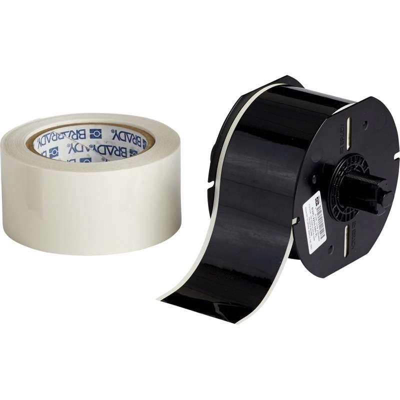 "B30 Series ToughStripe® Printable Floor Marking Tape with Aggressive Adhesive, 2.25"" x 100', Black"