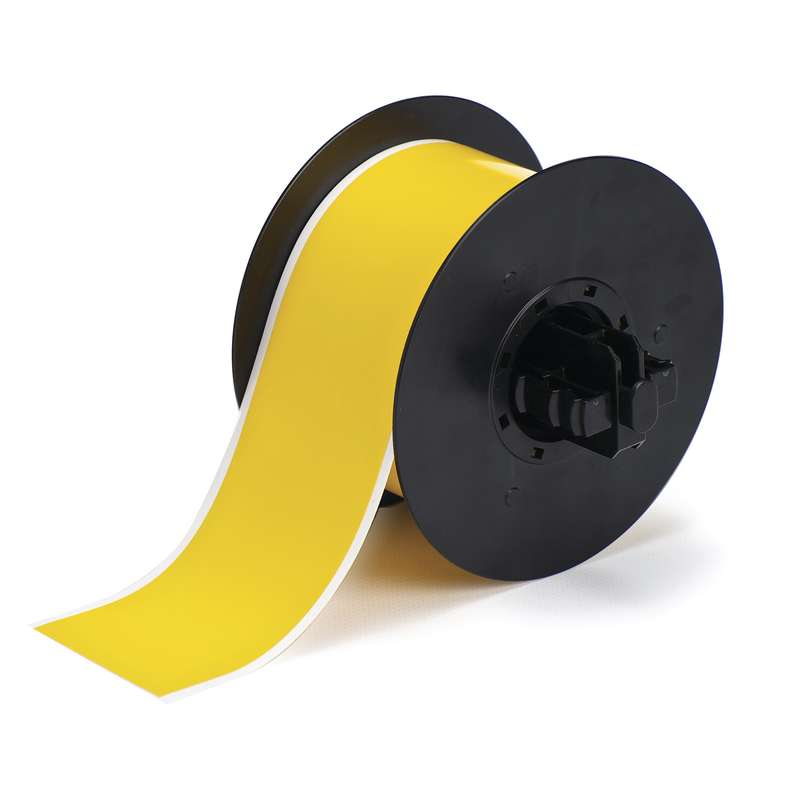 B30 Series Magnetic Polyester Labels, Yellow, B-595, 2.25 x 100 ft per Roll