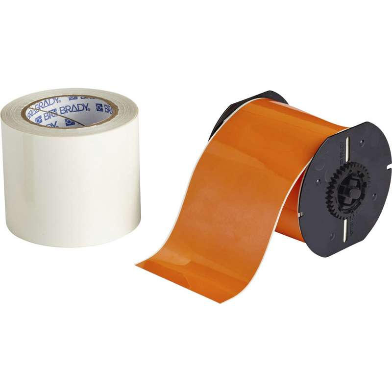 "B30 Series ToughStripe® Printable Floor Marking Tape with Ultra-Aggressive Adhesive, 4"" x 100', Orange"