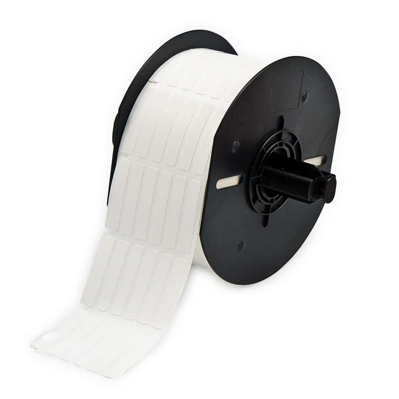 """BBP33 Repositionable Vinyl Cloth Wire Markers, Gloss White, 1/4"""" x 1-7/16"""", 2500 per Roll"""