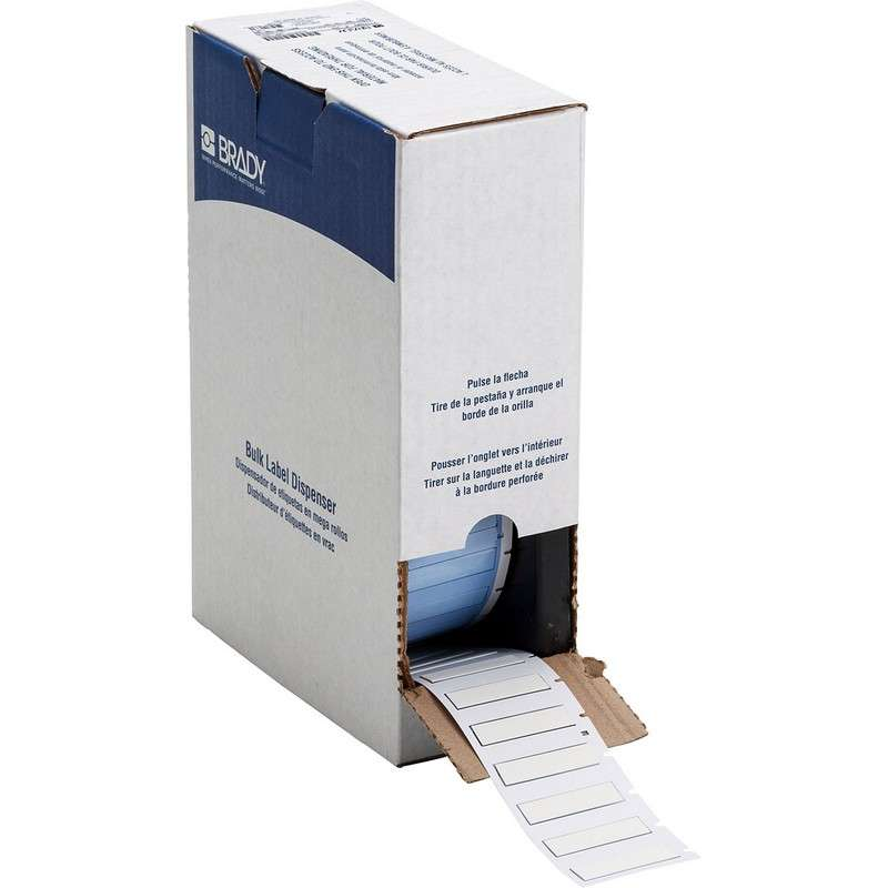 """BMP?71 PermaSleeve® Polyolefin Wire Marker Sleeves, Matte White, 1.765"""" x 0.439"""", 1000 per Roll"""