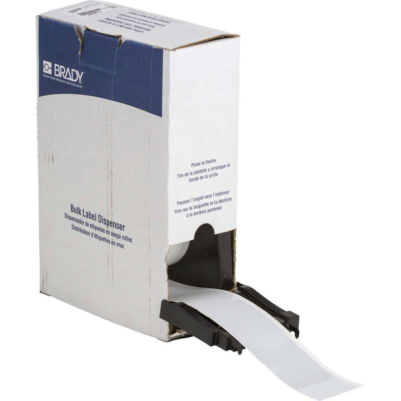 """BMP™71C Continuous Reflective Tape, Gloss White, 2"""" x 75', 1 per Roll"""