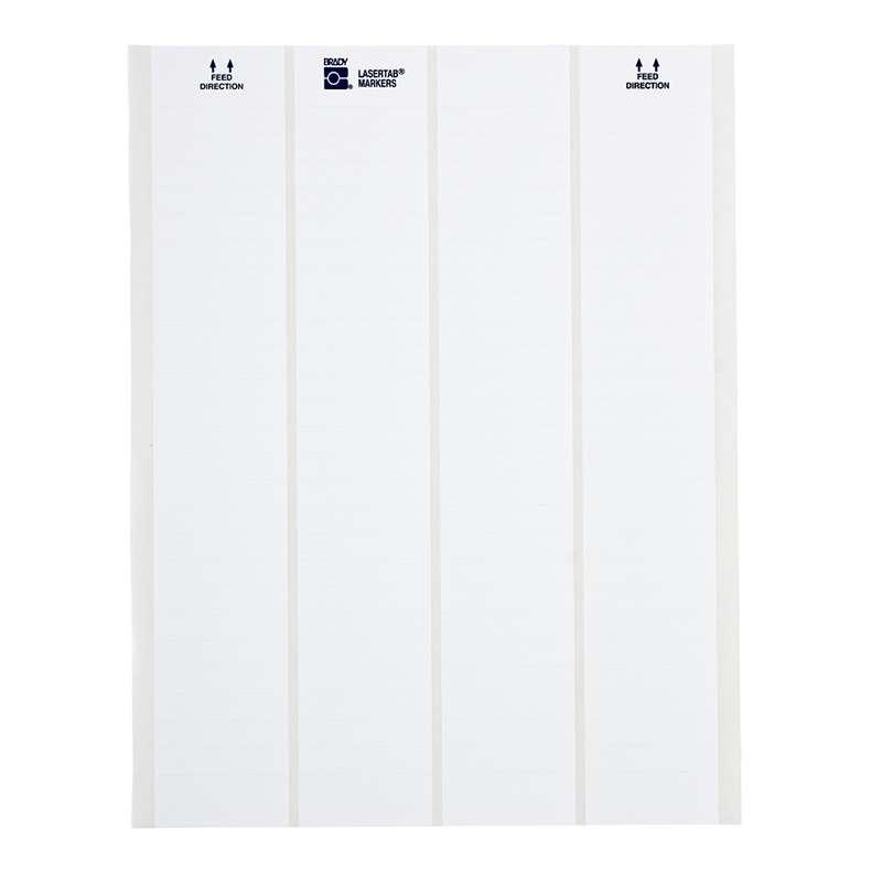 "Laser Printable Labels, Nylon Cloth, 1/2"" x 3/4"", Matte White, 5000 per Package"