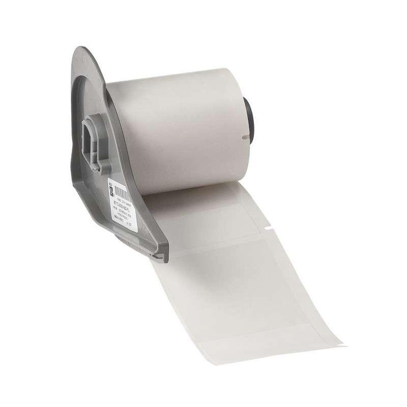 "BMP™71 Series Self-Laminating Vinyl Labels, Translucent White, 1.938"" x 3.150"", 100 per Roll"