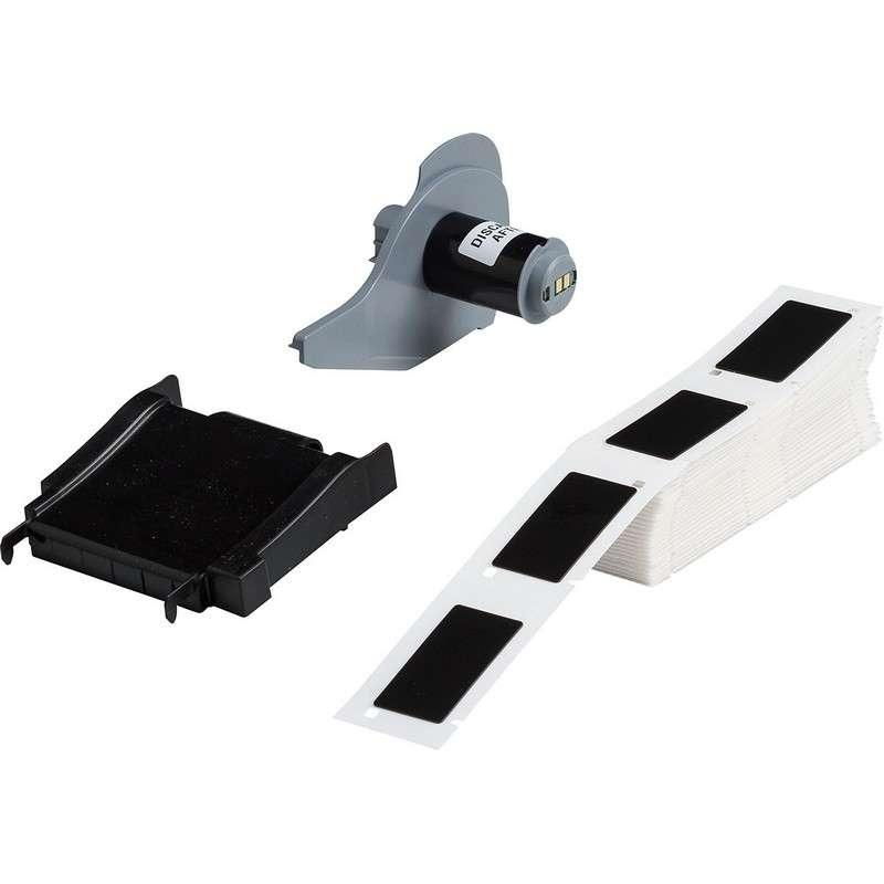 "BMP®71 Series Thermal Transfer Printable Raised Panel Labels, Gloss Black, 2"" x 1"", 100 per Box"