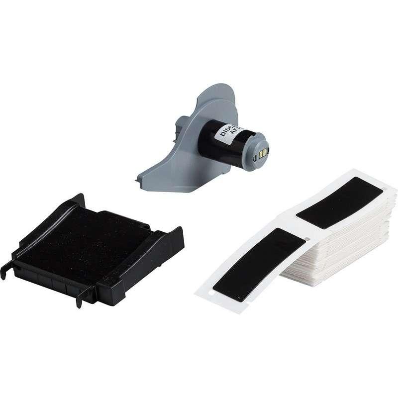 "BMP®71 Series Thermal Transfer Printable Raised Panel Labels, Black Gloss, 3"" x 1"", 50 per Box"