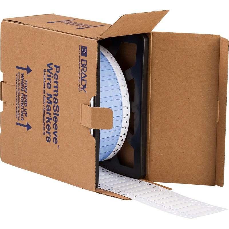 "PermaSleeve® Heat Shrink Polyolefin White Wire Marking Sleeves, 2 x 0.439"", 2500 per Roll"