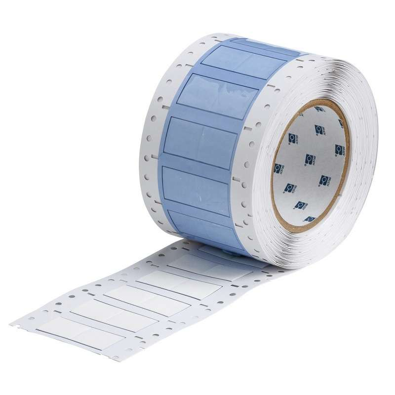 """3"""" Core Series PermaSleeve Wire Marker, B-342, White, 1-8 AWG, 1000 Sleeves per Roll"""