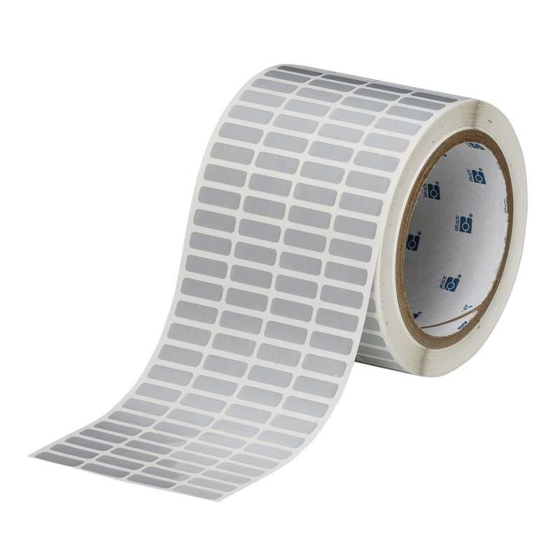 """3"""" Core Series Thermal Transfer Label, B-435, Silver, 0.25 x 0.75 in, 10000 Labels per Roll"""
