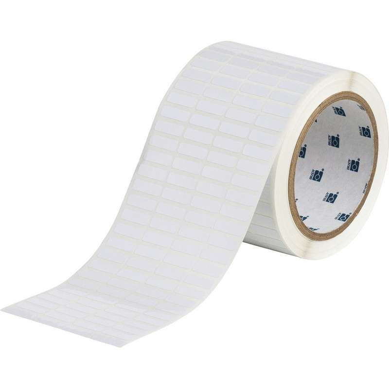 """3"""" Core Series WorkHorse Static Dissipatice Polyester Labels, B-473, White, 0.25 x 0.75 in, 10000 Labels per Roll"""