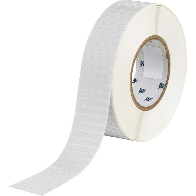 "3"" Core Series Thermal Transfer Polyimide Labels, B-724, Amber, 0.25 x 1.5 in, 10000 Labels per Roll"