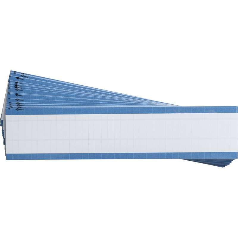 "Repositionable Vinyl Cloth NEMA Wire Marker Label Cards, Matte White, 1-1/2"", 36 Labels per Card, 25 Cards per Pack"