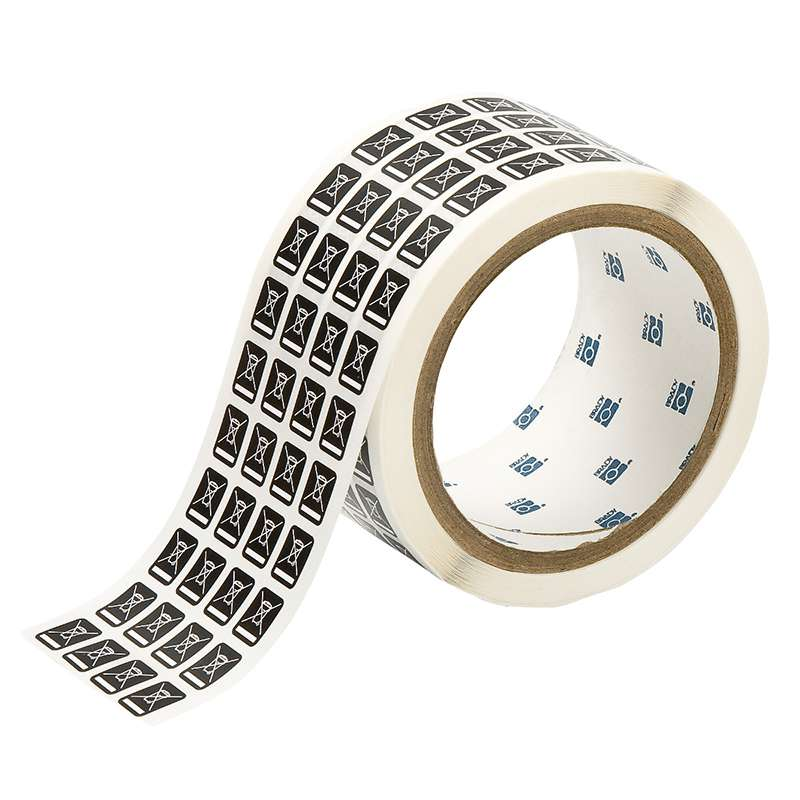 WEEE Identification Labels, 0.5 X 0.4 in, B-8423, 5000 per Roll, White on Black